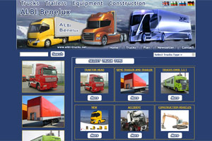 Screenshot of website Albi Trucks