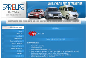 Screenshot of website Arela Services