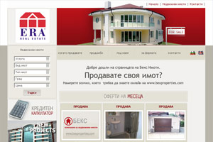 Screenshot of website Bex Properties