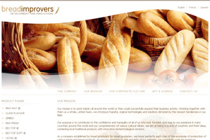 Screenshot of website Bread Improvers