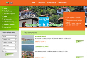 Screenshot of website Burgas Property