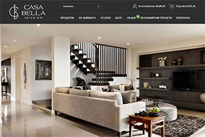 Website design and development of Casa Bella Interiori