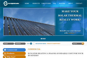 Screenshot of website Eco Hybrid Solar