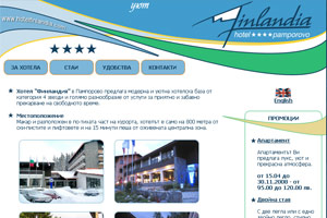 Screenshot of website Hotel Finlandia