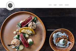 Screenshot of website Food Photography