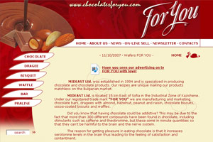 Website design and development of Chocolates FOR YOU
