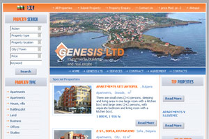 Screenshot of website Building company Genesis