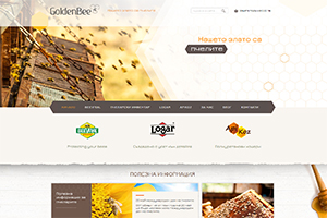 Screenshot of website GoldenBee