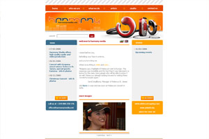 Screenshot of website Harmony Media