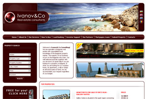 Screenshot of website Ivanov Property