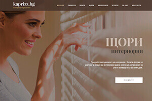 Screenshot of website Kapriz