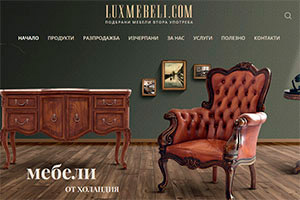 Screenshot of website LuxMebeli