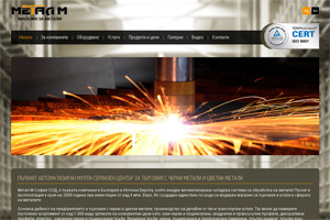Screenshot of website Metal-M