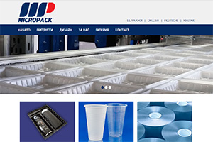 Screenshot of website Micropak Plastics