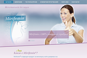 Screenshot of website Mirifemin