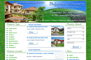 Screenshot of website My Bulgarian Property