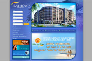 Screenshot of website Rainbow 3 Resort Club