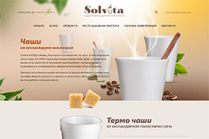 Screenshot of website Solvita