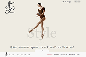 Screenshot of website BG Ballet