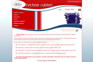 Screenshot of website TechnoRubber
