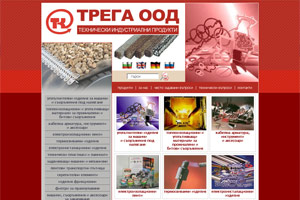 Screenshot of website Trega Ltd