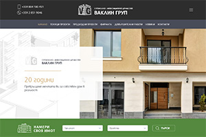 Screenshot of website Vaklin Group