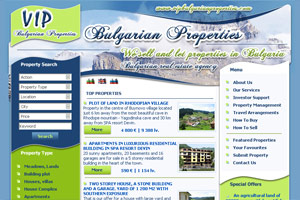 Screenshot of website Vip Bulgarian Properties