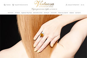 Screenshot of website Virtuosa